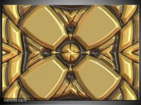 Glas schilderij Abstract | Goud, Grijs