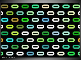Foto canvas schilderij Abstract | Zwart, Wit, Groen