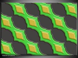 Foto canvas schilderij Abstract | Groen, Grijs, Geel