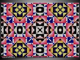 Foto canvas schilderij Abstract | Rood, Geel, Blauw