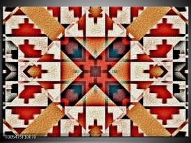 Foto canvas schilderij Abstract | Rood, Zwart, Wit