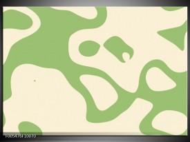 Glas schilderij Abstract   Groen, Wit