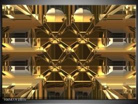 Glas schilderij Abstract   Goud, Grijs, Geel