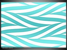 Glas schilderij Abstract | Blauw, Wit