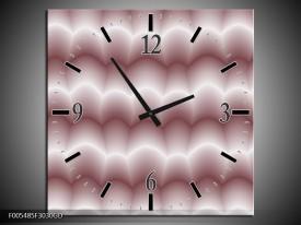 Wandklok op Glas Abstract | Kleur: Wit, Bruin | F005485CGD