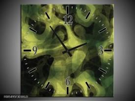 Wandklok op Glas Abstract | Kleur: Groen, Zwart | F005495CGD