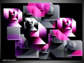 Foto canvas schilderij Art | Grijs, Roze, Paars