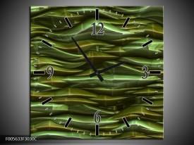 Wandklok op Canvas Art | Kleur: Groen, Zwart | F005633C