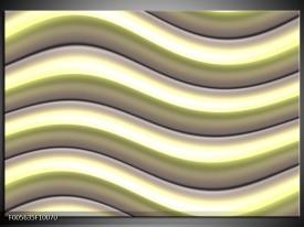 Glas schilderij Art   Groen, Zwart, Geel