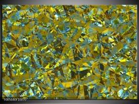 Glas schilderij Art   Groen, Geel, Blauw