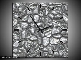 Wandklok op Glas Art   Kleur: Grijs, Wit   F005658CGD