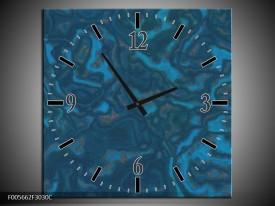 Wandklok op Canvas Art | Kleur: Blauw | F005662C