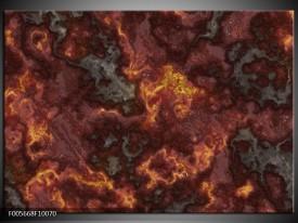 Foto canvas schilderij Vuur | Geel, Grijs