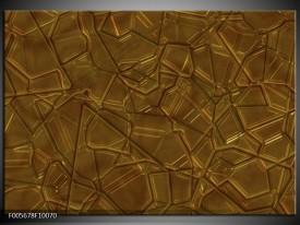 Foto canvas schilderij Art | Bruin, Goud