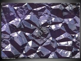 Glas schilderij Art | Paars, Wit