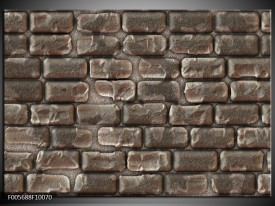 Glas schilderij Muur | Grijs, Zwart