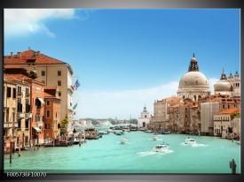 Foto canvas schilderij Venetie | Blauw, Creme