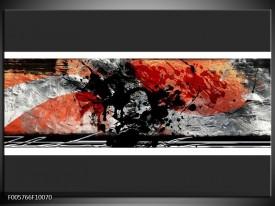 Glas schilderij Art | Oranje, Grijs, Zwart