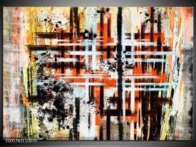 Foto canvas schilderij Art | Oranje, Zwart
