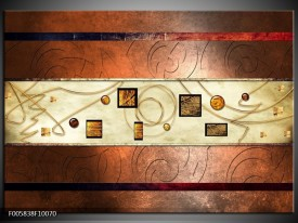 Glas schilderij Modern | Bruin, Goud