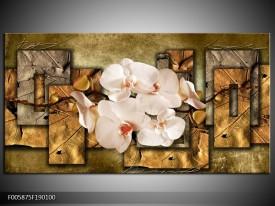 OP VOORRAAD GROOT 190x100cm in 1 deel | Foto canvas schilderij Orchidee | F005875