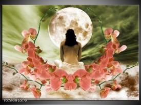 Foto canvas schilderij Orchidee | Roze, Groen, Wit