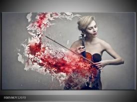 OP VOORRAAD Foto canvas schilderij Muziek | 120x70cm | F005987