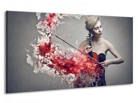 Canvas schilderij Muziek | Rood, Grijs | 190x100cm 1Luik