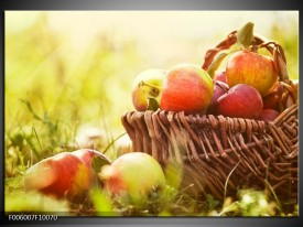 Foto canvas schilderij Appels | Groen, Rood, Bruin
