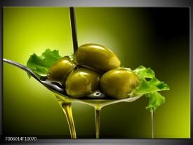 Glas schilderij Olijven | Groen