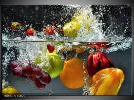Foto canvas schilderij Fruit | Grijs, Oranje
