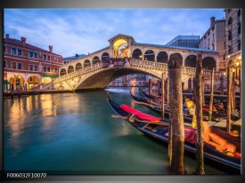 Glas schilderij Venetië | Blauw, Groen, Bruin
