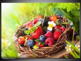 Glas schilderij Fruit | Groen, Rood