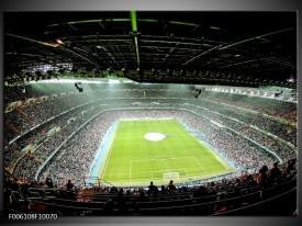 Foto canvas schilderij Stadion | Groen
