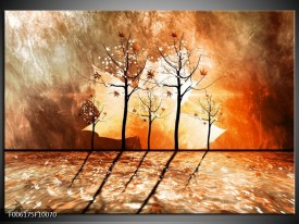 Glas schilderij Abstract   Bruin, Oranje, Geel