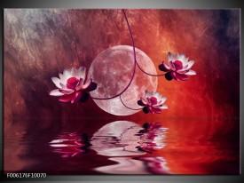 Foto canvas schilderij Modern | Rood, Paars, Roze