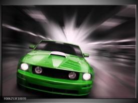 Glas schilderij Mustang | Groen, Grijs