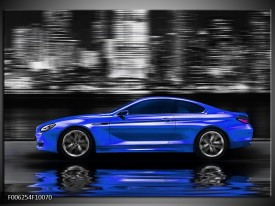 Foto canvas schilderij Auto   Blauw, Grijs
