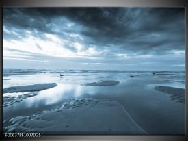 Glas Schilderij Zee | Blauw