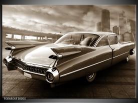 Canvas Schilderij Auto | Sepia