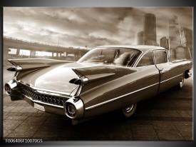 Glas Schilderij Auto | Sepia