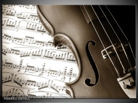 Glas Schilderij Muziek   Sepia