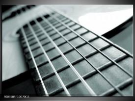 Glas Schilderij Muziek | Grijs, Groen