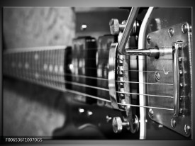 Glas Schilderij Muziek | Zwart, Wit