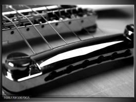 Glas Schilderij Muziek | Zwart, Grijs