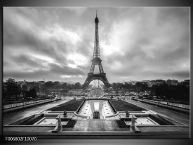 Canvas Schilderij Parijs, Eiffeltoren | Zwart, Wit, Grijs