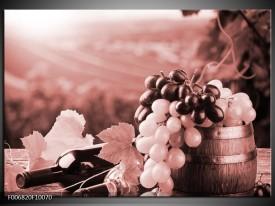 Canvas Schilderij Druiven, Keuken | Bruin, Rood