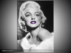 Canvas Schilderij Marilyn Monroe | Zwart, Grijs, Paars