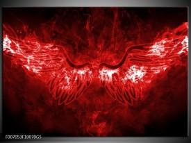 Glas Schilderij Engel, Vuur | Rood, Wit,