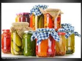 Glas Schilderij Keuken, Groenten | Wit, Rood, Groen
